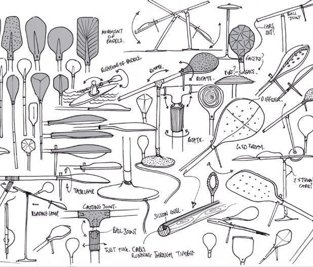 手绘灯具设计草图
